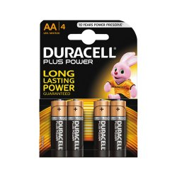 Batterier Duracel AA/LR6 Plus 1,5V 4-pack