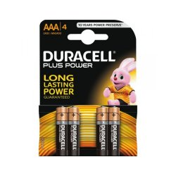 Batterier Duracel AAA/LR03 Plus 1,5V 4-pack