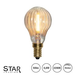0,8W Decoration LED filament klotlampa P45 med E14 sockel 50lm - dimbar