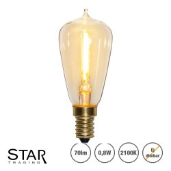 0,8W Decoration LED filament lampa med E14 sockel 70lm - ej dimbar 353-71