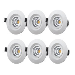 M-Penny 6-pack 7,4W slimmade LED spotlights 2700/3000K IP44 fast modell