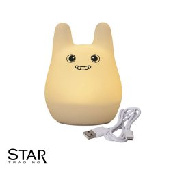 0,4W LED-nattlampa Bunny night light uppladdningsbar via USB