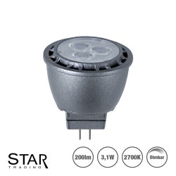 3,1W LED spotlight MR11/GU4 200lm - dimbar