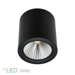 inLED Orbiz LED takspotlight 10W dimbar - Svart