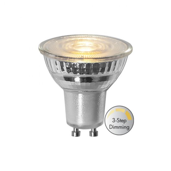Spotlight 4,4W GU10 LED spotligh 36° RA80 3-stegs klickdimring