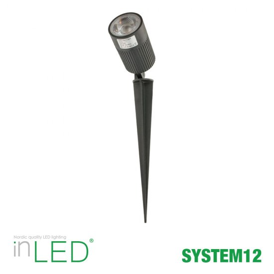 8W LED spotlight på spjut - System12