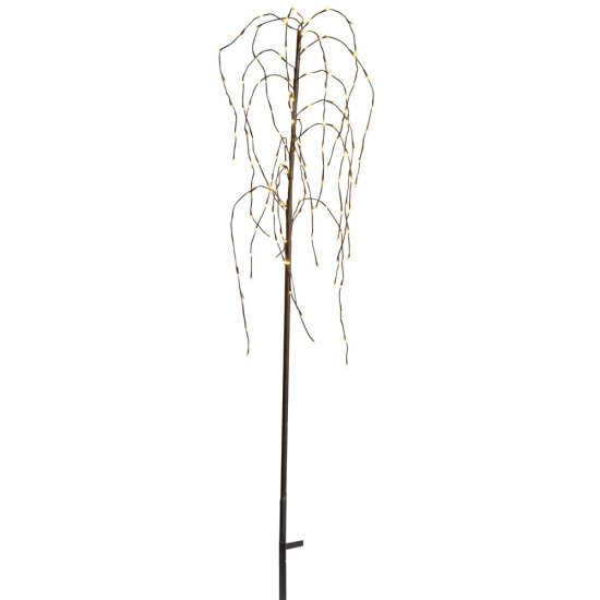 LED dekorationsträd Weeping Willow 150cm brun