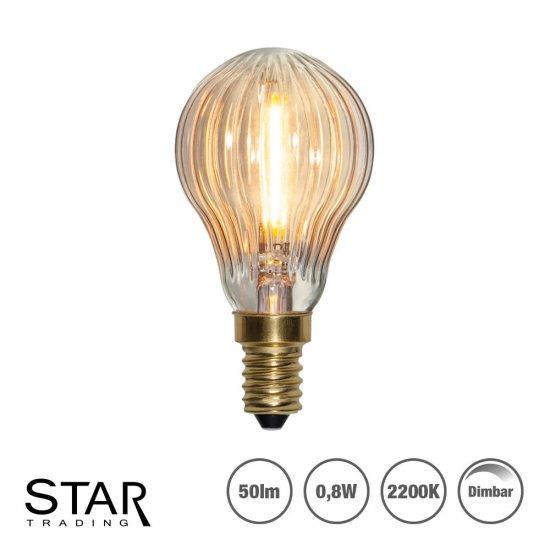 Helt nya LED lampa klot -räfflad för dekoration P45 E14 0,8W 50lm | SPOTiLED.SE UH-51