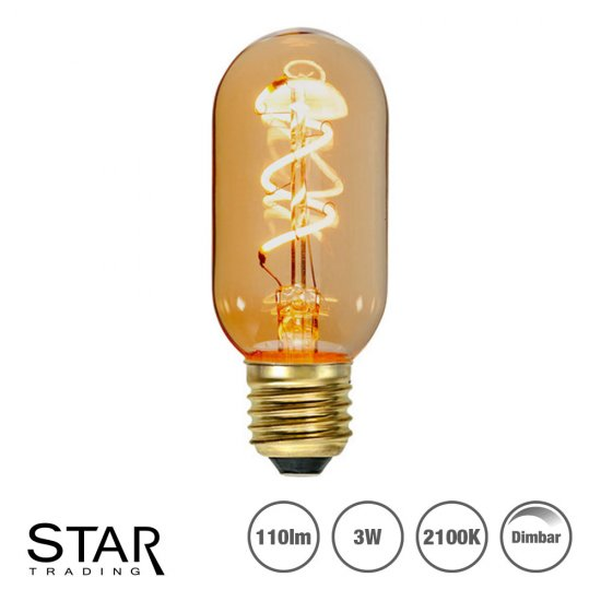 LED dekorationslampa 3W 2100K 4,5cm - Flexifilament - amber - dimbar 354-45
