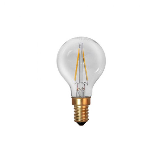 2W Decoration LED filament lampa med E14 sockel 120lm - ej dimbar