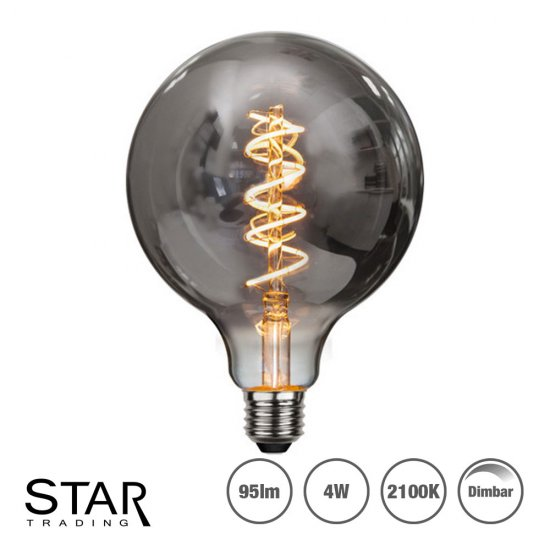 4W LED-lampa E27 G125 Heavy Smoke Spiral Filament Ø12,5cm