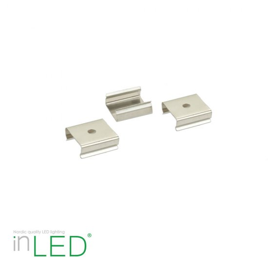 Clips - 3-pack for montering av inLED LED list LL50 och LL100