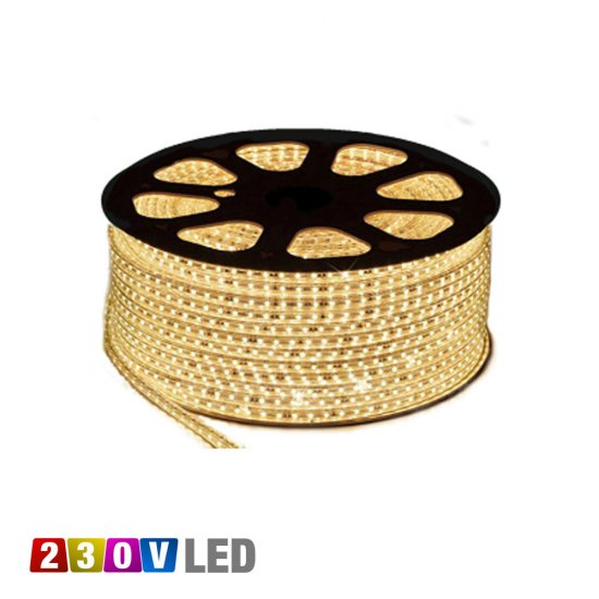 LED strip 230V IP65 varmvit 3000K 4,8W/m - metervara