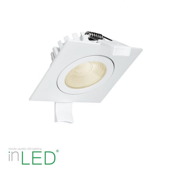 Fyrkantig LED spotlight inLED Proline S5F 5W IP44 vit