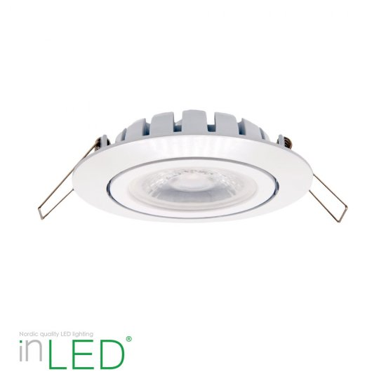 inLED Slimline 9W LED spotlight Ra90 IP44 vit supertunn endast 27mm djup