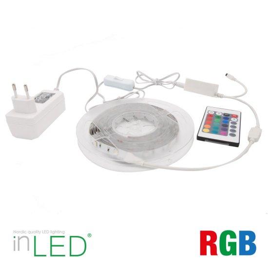 Omtyckta LED flexlist paket RGB 5m med fjärrkontroll   SPOTiLED.SE CS-24