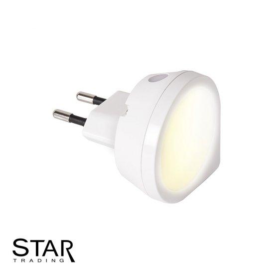 Bra 0,4W LED nattlampa för vägguttag med skymningssensor | SPOTiLED.SE LM-73