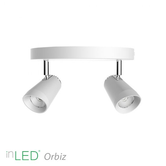 inLED Orbiz LED takspotlight 2x10W dimbar - Vit