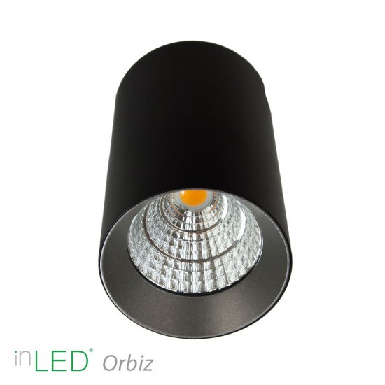 inLED Orbiz LED takspotlight 10W - Svart