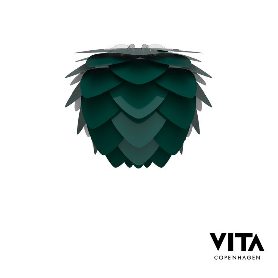 VITA Aluvia Forest Green lampskärm 40cm mini