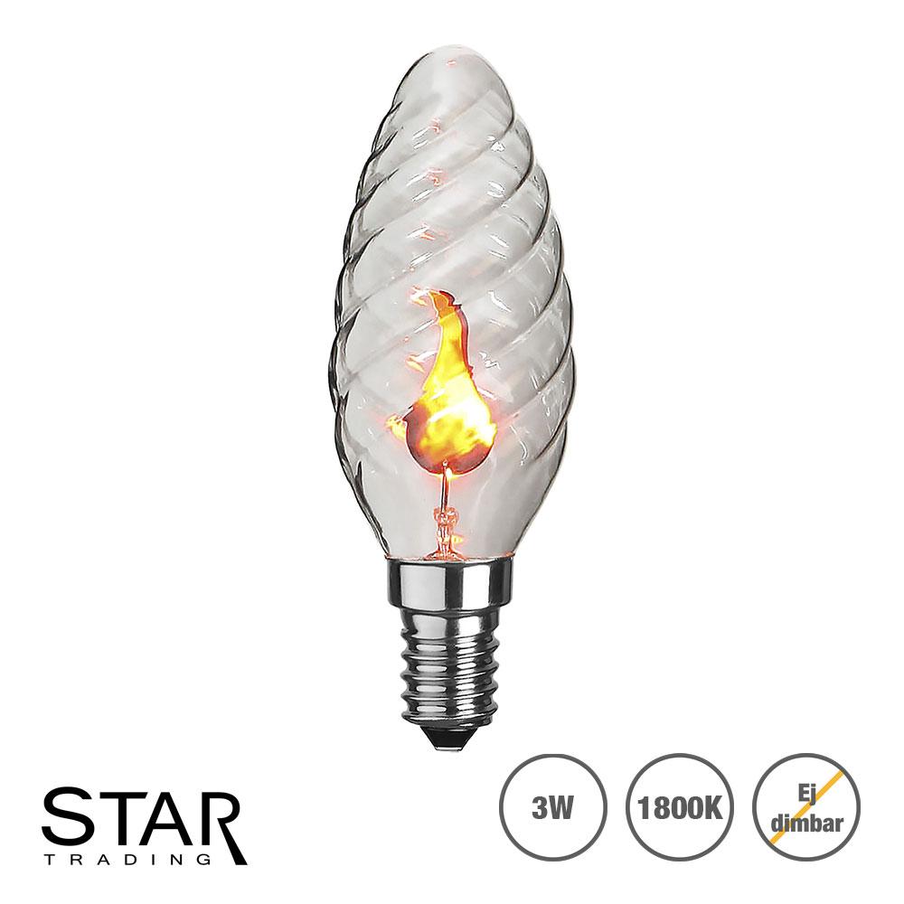 Splitter nya Flammande LED lampa med E14 sockel, vriden | SPOTiLED.SE HZ-62