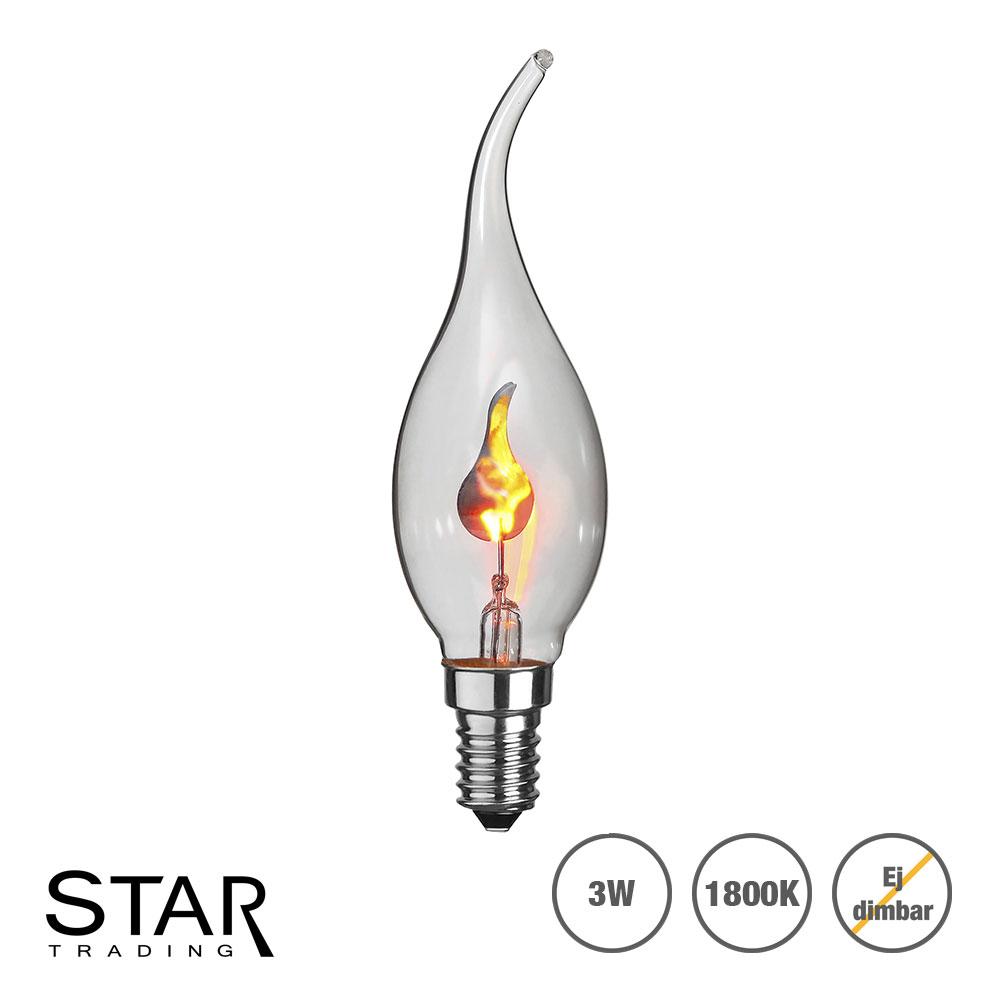 Bra Flammande LED lampa med smal topp E14 sockel | SPOTiLED.SE RM-84